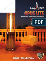 Lava Heat Italia - Opus Lite patio heater - Owners Manual