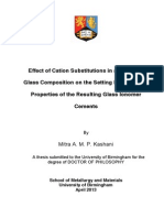 Effect of Cation Substitutions in an Ionomer Glass Composition on the Setting Reaction and Properties of the Resulting Glass Ionomer Cements