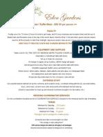 Eden Gardens Buffet - Catering Menu