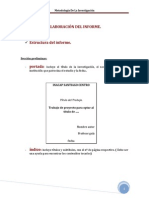 Elaboracion Del Informe Final
