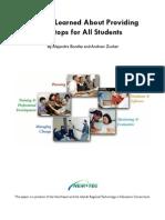 Laptop Lessons Report
