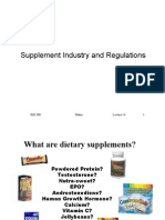 Supplement Industry and Regulations