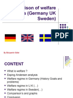 A Comparison of Welfare Regimes (Germany UK and Sweden )