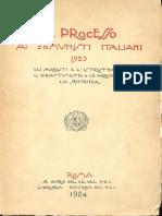 Il Processo Ai Comunisti Italiani 1923