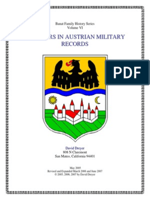 Banat Family History Series Book VII | Regiment | Conscription