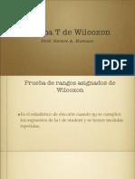 (8) T de Wilcoxon