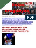 Noticias Uruguayas Martes 28 de Enero Del 2014