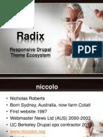 Nicholas Roberts Drupal Radix Theming Ecosystem
