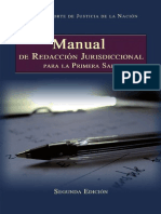 Manual de Redaccion Jurisdiccional Para La Primera Sala