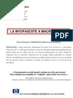 Anciens combattants - La Myofasciite à macrophage