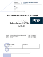 Regulament Pt Licenta UMF TGM