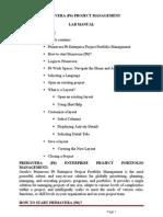 primaveria  lab manual