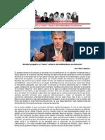 """Nicolás Eyzaguirre, el """"nuevo"""" refuerzo del neoliberalismo en educación - Félix  Calderón- 28 de enero de 2014"""