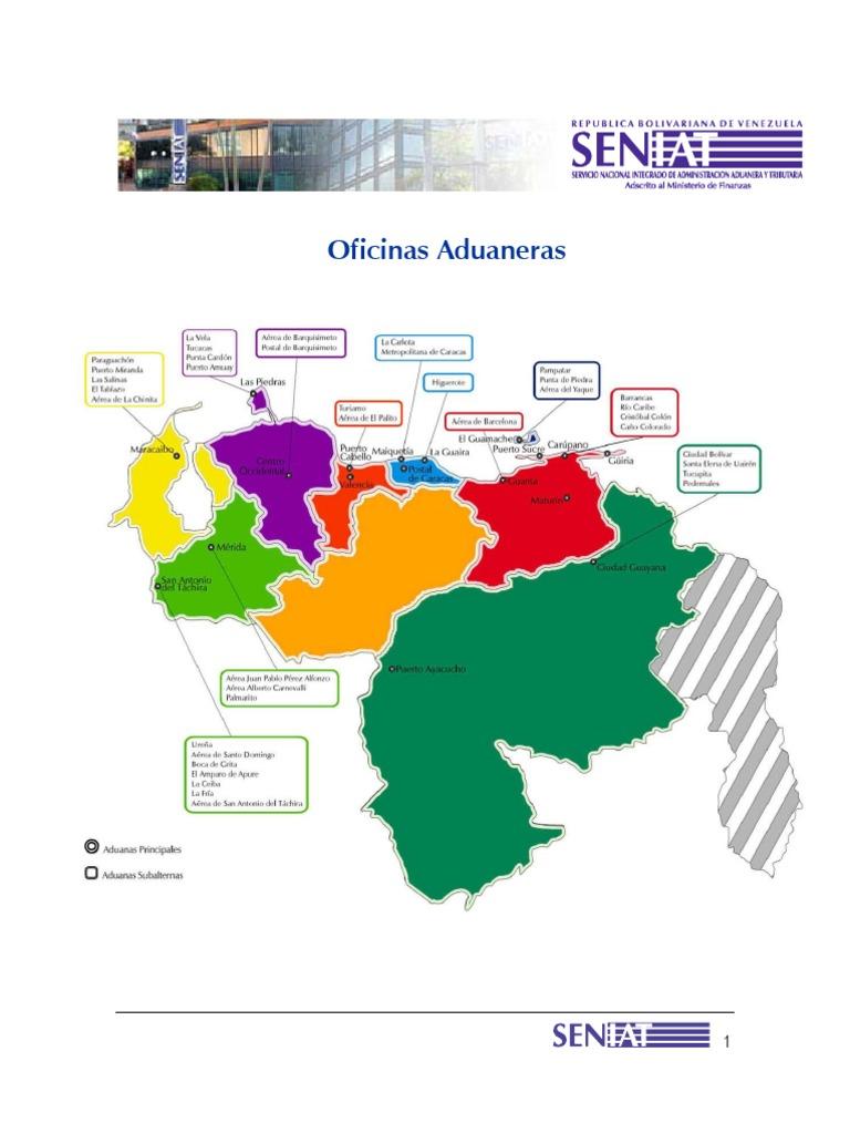 Mapa aduanero for Oficina del consumidor valencia telefono