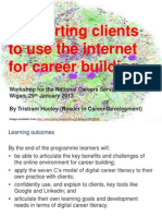 Supporting clients to use the internet for career building (Wigan edition)