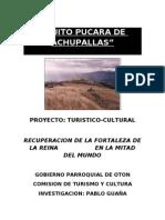 Proyecto Quito Pucara de Achupallas