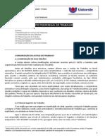 Apostila 02 – ORGANIZAÇÃO DA JUSTIÇA DO TRABALHO