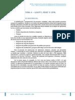 Tema 4 - Gantt, Pert y Cpm