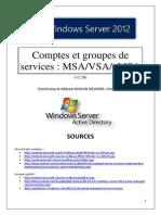 Comptes et groupes de services