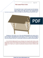 Woodworking Plan - Wild Animal Winter Feeder - Craftsmanspace Website