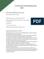 INVERSIONES NACIONALES Y EXTRANJERAS EN EL PERÚ