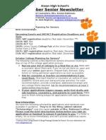 October Senior Newsletter Anson