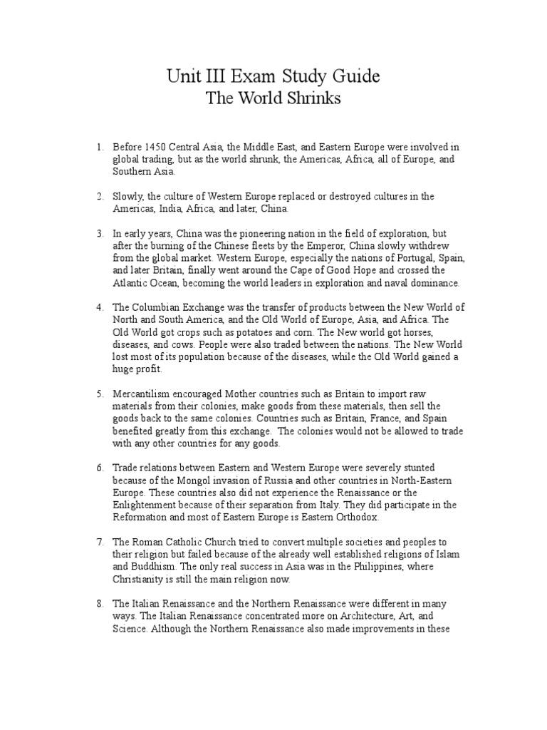 ap world history unit 2 practice test