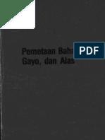 Pemetaan Bahasa Aceh, Gayo Dan Alas