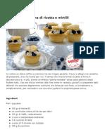 Cupcackes Crema Ricotta e Mirtilli