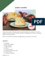 Torta Soffice Pesche e Cannella