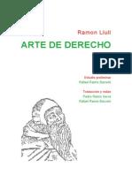 Arte_de_derecho de Ramon Llul