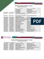 Career Services Event Calendar 01-27-2014 Rev 01-28