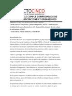 10-01-2014 Proyecto Cinco - MORENO VALLE CUMPLE COMPROMISOS DE CAMPAÑA, ASOCIACIONES Y ORGANISMOS