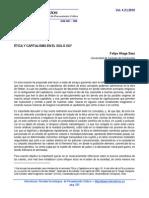 Ética y capitalismo en el siglo XXI. Por Felipe Aliaga Sáez.
