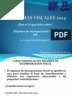 Regimen de Incorporacion Fiscal 2014 Que Debo Saber