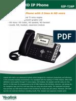 Catalogo Telefono SIP T26P