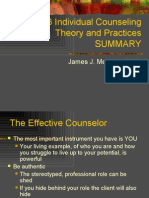 C6436 Individual Counseling Theory and Practices SUMMARY