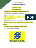 BANCO DO BRASIL - Cultura Organizacional