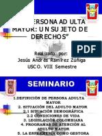 SITUACION DE LAS PERSONAS ADULTAS MAYORES EN COLOMBIA