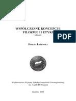 Dorota Łażewska - Współczesne koncepcje filozofii i etyki