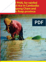 Best Management Practices for rainfed lowland rice in Cambodia