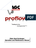 AGC ProFlow Series Plate Heat Exchanger Owners Manual September 2002