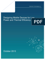 Designing Mobile Devices for Low Power and Thermal Efficiency