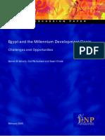 Egypt and the Millennium Development Goals