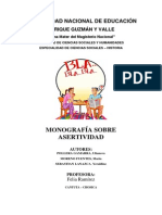Monografia Sobre Asertividad