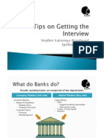 Tips on Getting the Interview and Landing That Banking Job