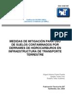 Medidas de Mitigacion Para Uso de Suelos Contaminados Por Derrames de Hidrocarburos