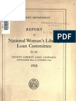(1918) National Report of Woman's Liberty Loan Committee
