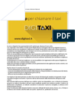 DigiTaxi La APP per chiamare il taxi a Napoli