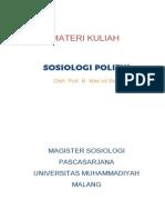 Materi Kuliah Sosiologi Politik 2011
